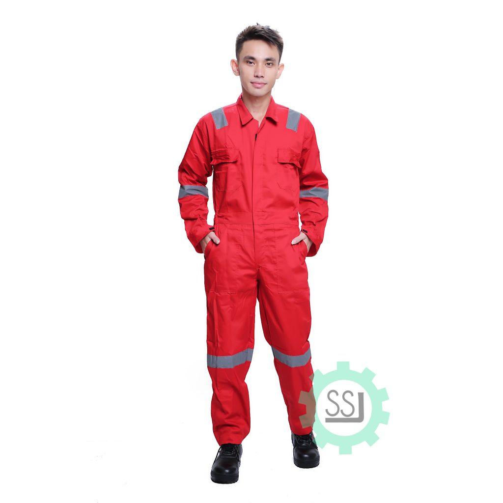 Baju Seragam Terusan Safety Warna Merah